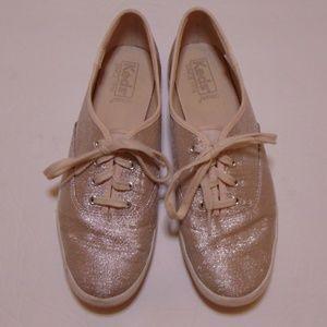 Blush Dusty Rose Glitter Keds Sneakers Size 8